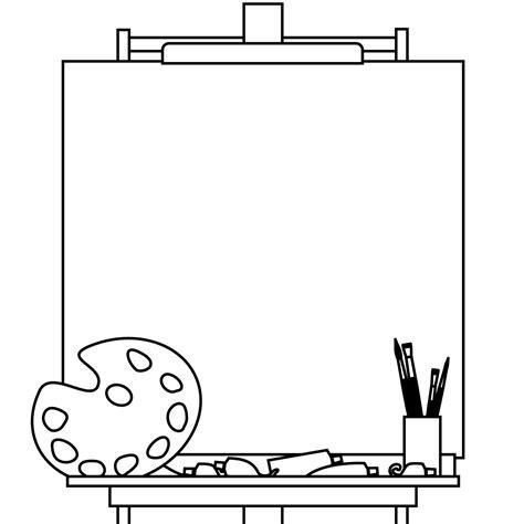 easel  blank canvas    cute cover   art