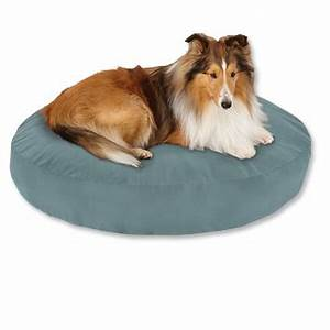 tough chew round dog bed with poly pad orvis With tough fabric for dog bed
