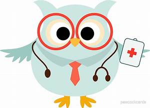 """""""Medical Profession Owl Doctor"""" Stickers by peacockcards"""
