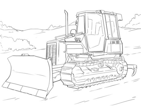 Color pictures, email pictures, and more with these trucks coloring pages. Caterpillar Bulldozer Coloring page | Colouring Pages ...