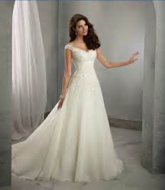 wedding gowns with sleeves a line cap sleeves lace wedding dress uniqistic