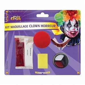 Déguisement Halloween Qui Fait Peur : kit de maquillage de clown qui fait peur kits de maquillage sur the ~ Dallasstarsshop.com Idées de Décoration