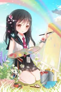 Anime Girl Painting Art