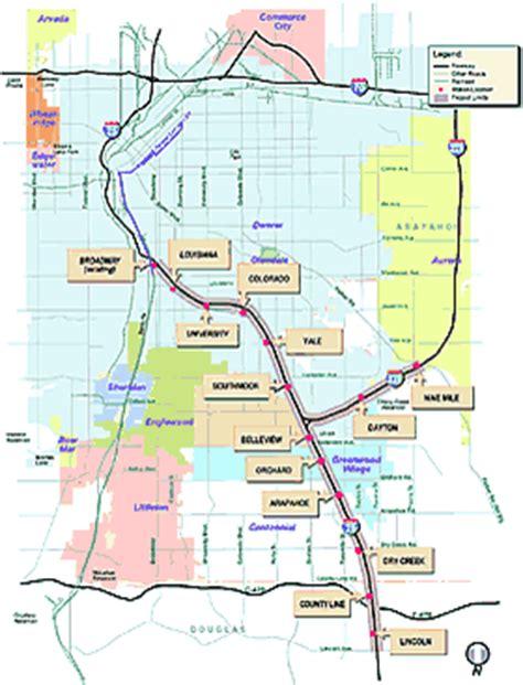 denver light rail schedule colorado t rex project transportation expansion