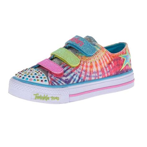 skechers light up shoes toddler skechers 10383l twinkle toes shuffles peace n