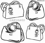 Handbag Coloring Pages sketch template