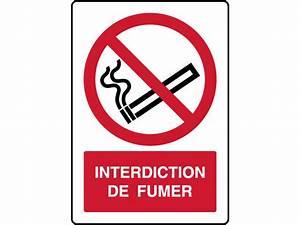 Panneau Interdiction De Fumer : panneau vertical interdiction de fumer contact virages ~ Melissatoandfro.com Idées de Décoration