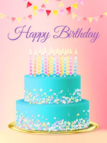 chic birthday cake card birthday greeting cards  davia