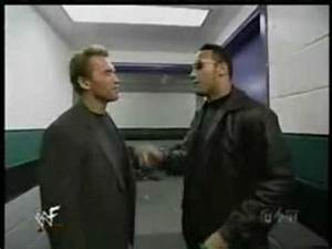 The Rock meets Arnold Schwarzenegger - YouTube