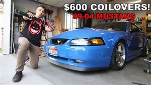 Slamming The Mach 1 On  600 Coilovers