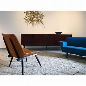 fauteuil scandinave vintage en cuir et bois 1950 With fauteuil design bois et cuir