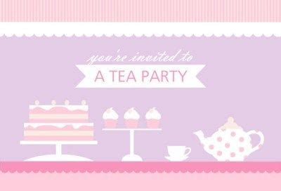 hightea party invitations