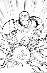 Coloring Superhero Avengers Pages Halloweens Marvel sketch template