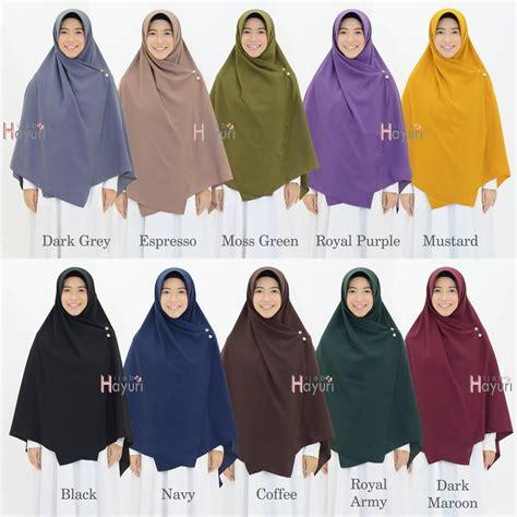 hijab hayuri khimar segiempat polos