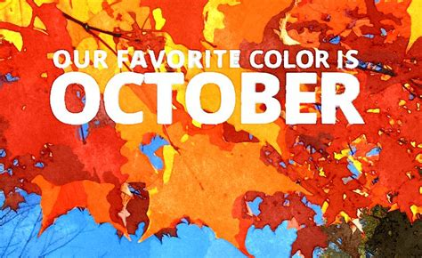 Our Favorite Color Is October Smallbusinesscom