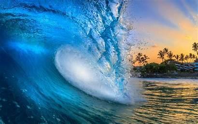 Waves Beach Desktop Hawaii Water Sunrise Sun