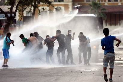 Water Cannon Against Protests Police Escalating Standard