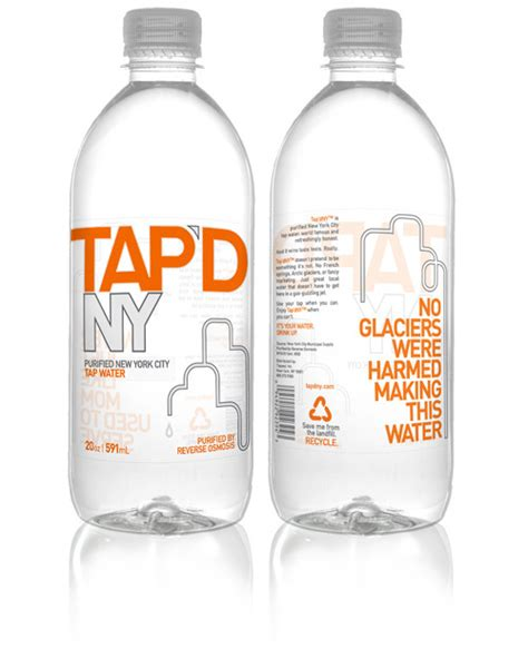 tapd ny  york bottled water dieline