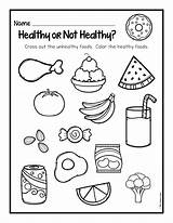 Healthy Worksheet Preschool Foods Worksheets Coloring sketch template