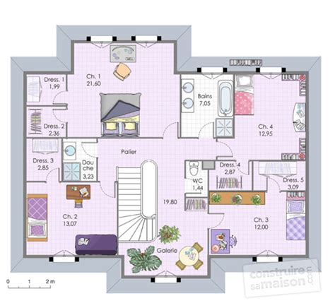 bureau de style maison familiale 6 dé du plan de maison familiale 6