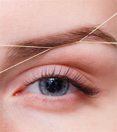 thread eyebrows  step  step tutorial