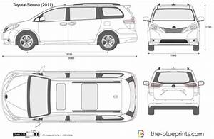 TheBlueprints   Vector Drawing  Toyota Sienna