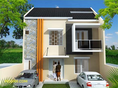 model rumah minimalis pintu dua desain rumah modern