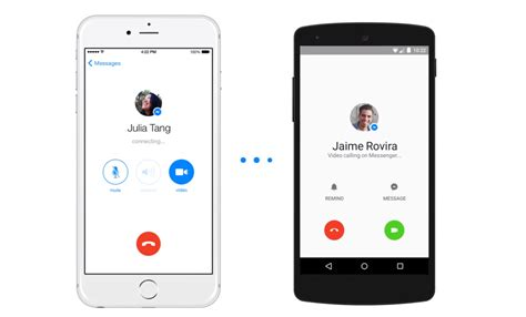 facebook messenger app adds video calling function
