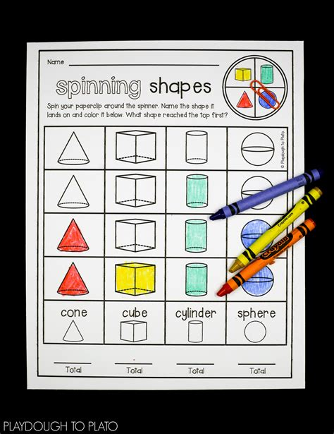 shapes activity pack playdough  plato
