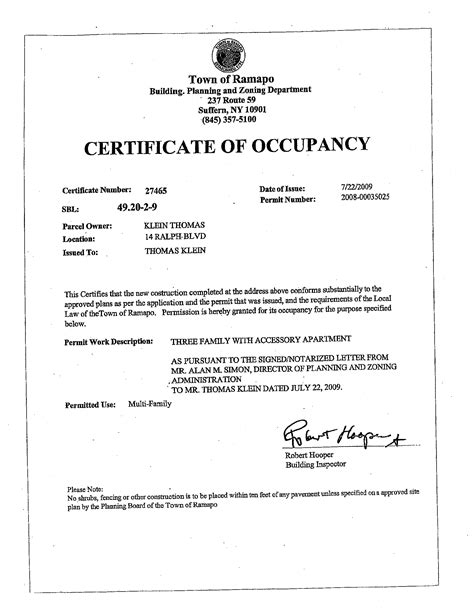 images  fire department certificate  occupancy