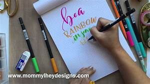 real time hand lettering using tombow dual brush pens With best brush pens for hand lettering