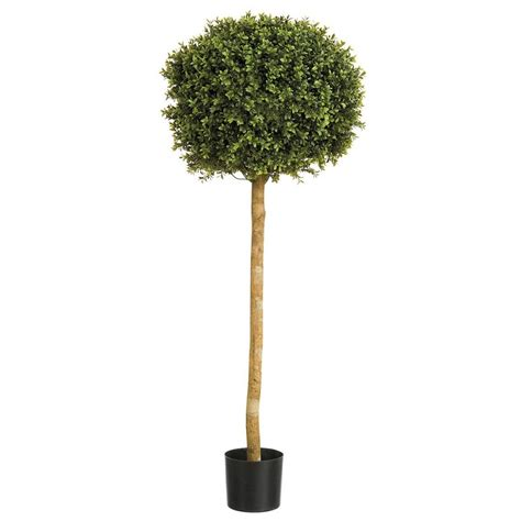 Outdoor Tree Planters by Artificial Topiary Ball Tree Outdoor Buxus Ball From Red