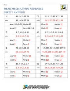 worksheet on median mode median mode range worksheets