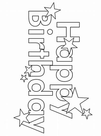 Coloring Birthday Happy Pages Printable Colors Holiday