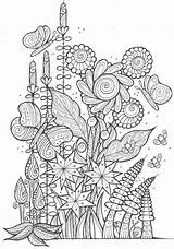 Coloring Adult Adults Pages Butterflies Spring Bees Printable Sheets Bee Flowers Butterfly Books Colouring Ausmalbilder Favecrafts Pdf Mandala Christmas Bilder sketch template
