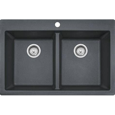 franke granite kitchen sink franke dig62d91 gra primo 33 inch dual mount double bowl