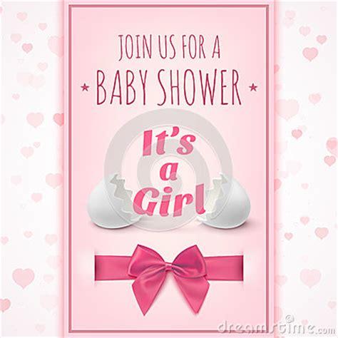 girl template  baby shower celebration stock