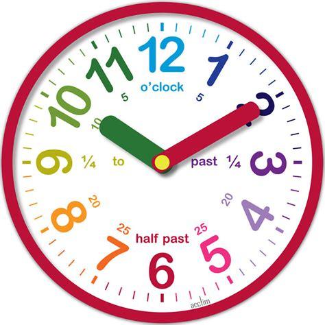 Acctim Lulu Teaching Time Wall Clock Red Educational Aid