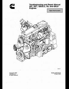 Jcb Cummins Isc Isce Qsc8 3 Isl And Qsl9 Engines Troubleshooting And Service Repair Manual