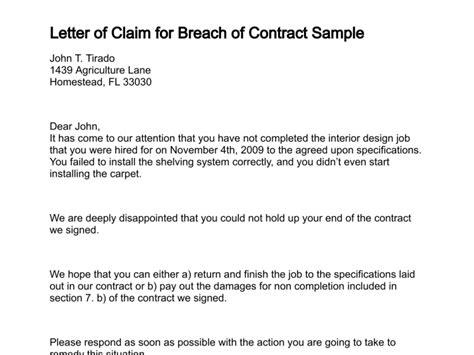 letter  claim