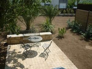 Terrasse Avec Muret : terrasse pav e avec muret paysagiste brest dans le ~ Premium-room.com Idées de Décoration