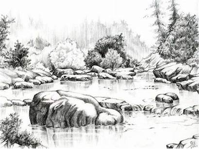Pencil Drawings Nature Drawing Sketches Landscape Sketch