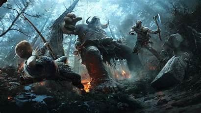 God War Kratos Wallpapers 4k 1080p Atreus