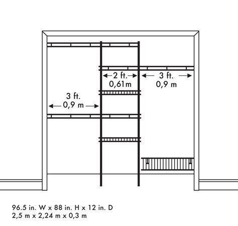 closet organizer kit white color 5 to 8 closetmaid