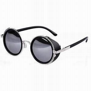 Lunette Soleil Ronde Homme : lunettes rondes theo lunettes rondes en titane ~ Nature-et-papiers.com Idées de Décoration