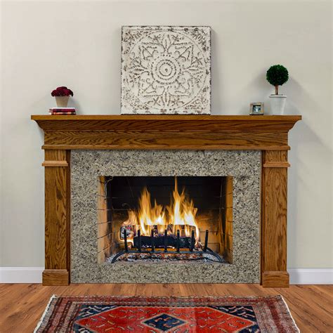 hawthorne traditional wood fireplace mantel surrounds