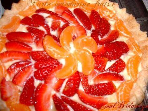 tarte fraise mandarines en pate feuillet 233 et cornet au