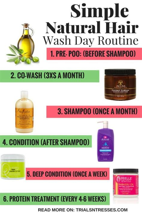 simple natural hair wash day routine natural hair styles