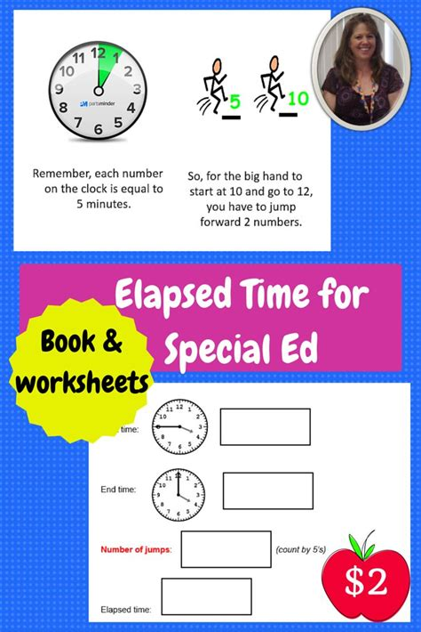 2 elapsed time booklet and worksheets for special education this is a 10 page student booklet