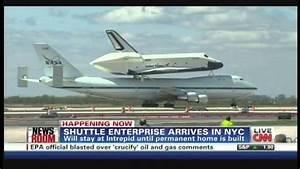 Space Shuttle Enterprise Landing JFK International Airport ...